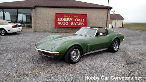 1972 Green Corvette Saddle Int 4spd For Sale (picture 1 of 6)