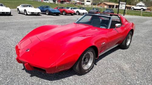 1976 Red Corvette Black Int 4spd Fun Driver For Sale (picture 1 of 6)