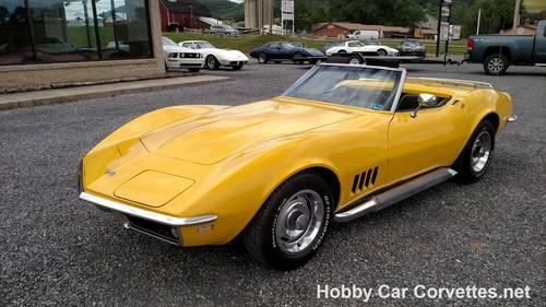1968 Yellow Corvette Convertible 4spd 36K Miles For Sale (picture 1 of 6)