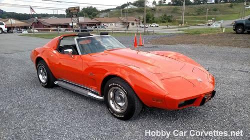 1976 Orange Corvette Black Int 4spd For Sale (picture 2 of 6)