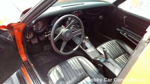 1976 Orange Corvette Black Int 4spd For Sale (picture 4 of 6)