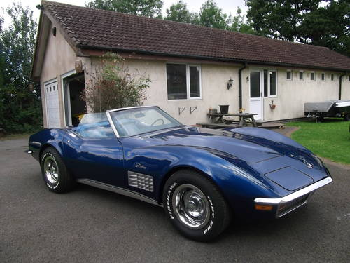 1972  Corvette Stingray C3 Convertible, 350 V8 Automatic SOLD (picture 1 of 6)
