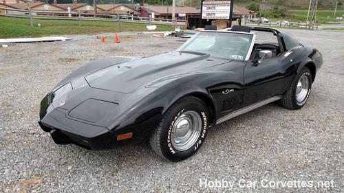 1975 Black Black Corvette 4spd For Sale (picture 1 of 6)