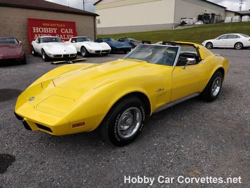 1975 Yellow Corvette Black int 4spd For Sale (picture 2 of 6)