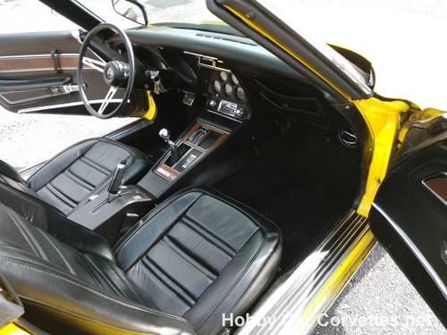 1975 Yellow Corvette Black int 4spd For Sale (picture 5 of 6)