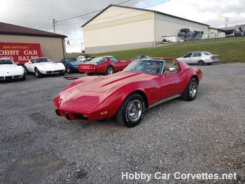1975 Red Corvette Tan Int Fun Driver For Sale (picture 1 of 6)