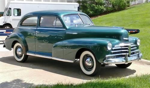 1948 Chevrolet StyleMaster 2 door sedan 3spd For Sale (picture 2 of 6)