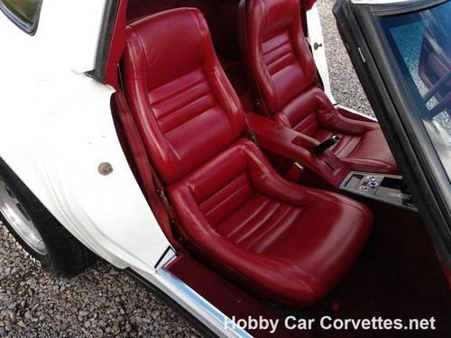 1981 White Corvette Dark Red Int 4spd For Sale For Sale (picture 6 of 6)