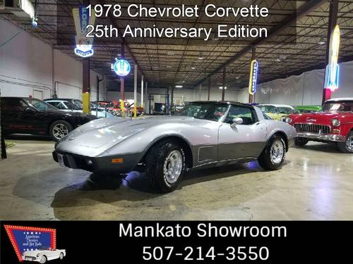 1978 Chevrolet Corvette 25th Anniversary Very Low Miles!!! For Sale (picture 1 of 6)