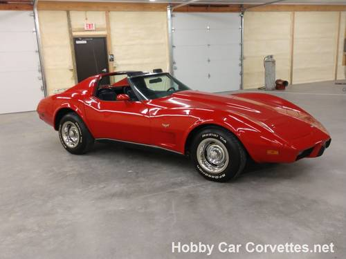 1977 Red Corvette Black Int For Sale For Sale (picture 1 of 6)
