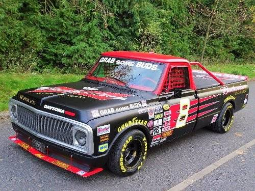 1971 Chevrolet Chevy 7.4 BUDWEISER NASCAR TRIBUTE TRUCK For Sale (picture 1 of 6)