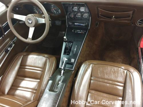 1977 Red Corvette Brown Int For Sale For Sale (picture 6 of 6)