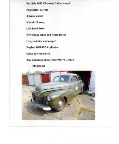 1942 chevrolet For Sale (picture 1 of 4)