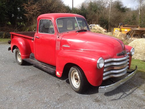 1953 chevrolet half ton pickup SOLD (picture 2 of 6)