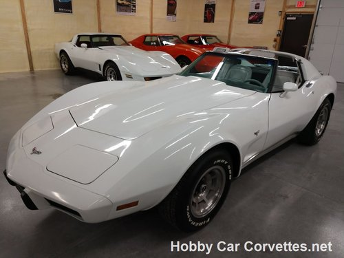 1977 White Corvette Smoke Gray interior For Sale (picture 2 of 6)