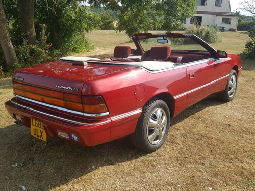 1994 Chrysler Le Baron Convertible. V. Low Miles. Power Hood. For Sale (picture 6 of 6)
