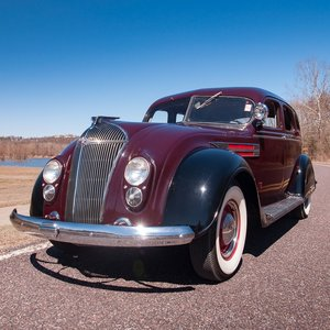 1936 Chrysler Airflow C-9 Sedan = clean Maroon(~()Tan $obo  For Sale