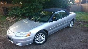 2002 Convertible Chrysler 2.7l V6 LXi. American Import