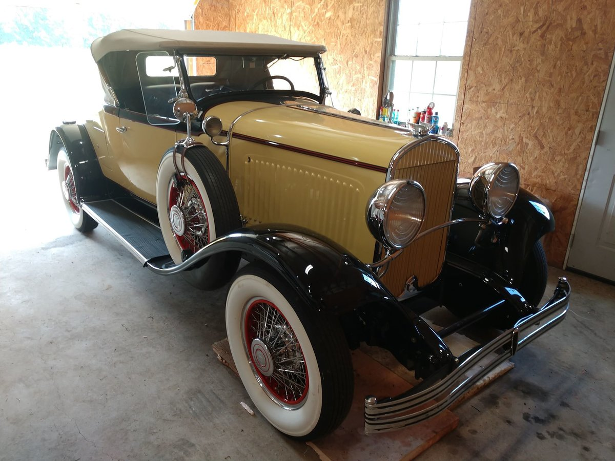 1929 ChryslerRumble Seat Roadster with dual side mounts SOLD (picture 1 of 6)