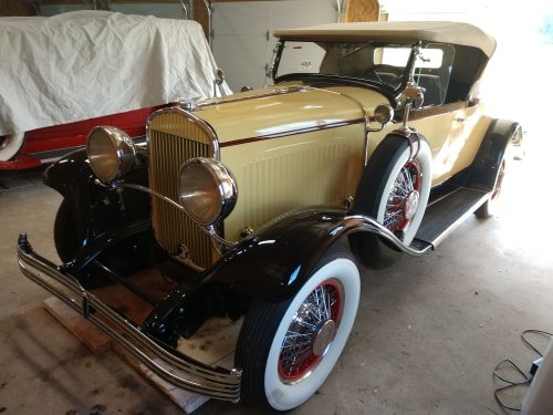 1929 ChryslerRumble Seat Roadster with dual side mounts SOLD (picture 3 of 6)