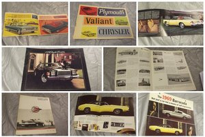 0000 CHRYSLER ORIGINAL RARE FACTORY SALES BROCHURES