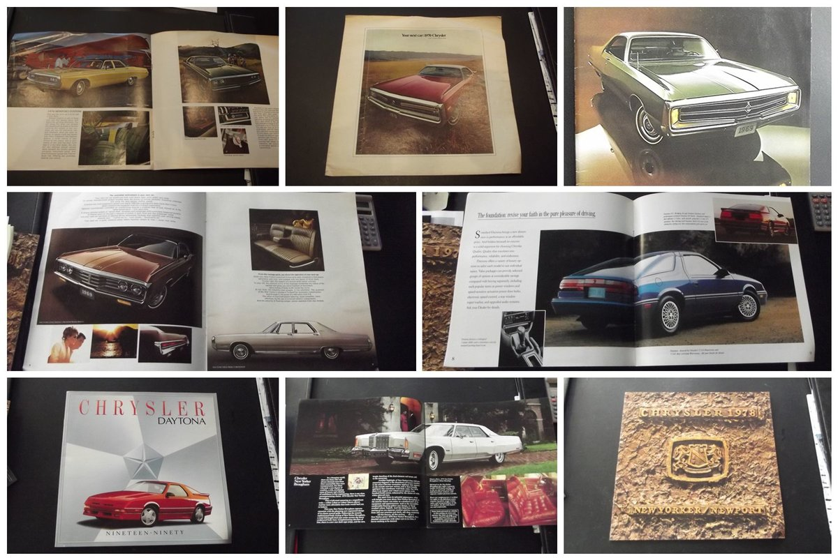 0000 CHRYSLER VARIOUS ORIGINAL FACTORY SALES BROCHURES For Sale (picture 4 of 6)