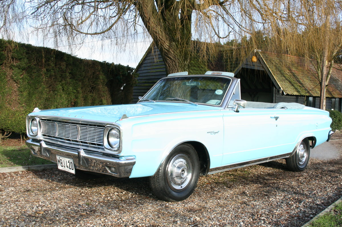 1966 Plymouth Chrysler Valiant Signet Convertible RHD UK Car. For Sale (picture 1 of 20)