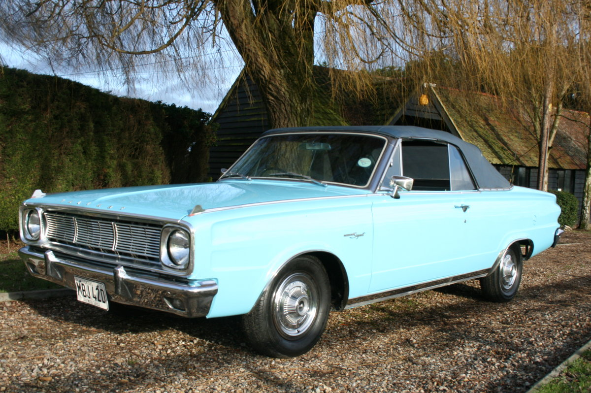 1966 Plymouth Chrysler Valiant Signet Convertible RHD UK Car. For Sale (picture 2 of 20)