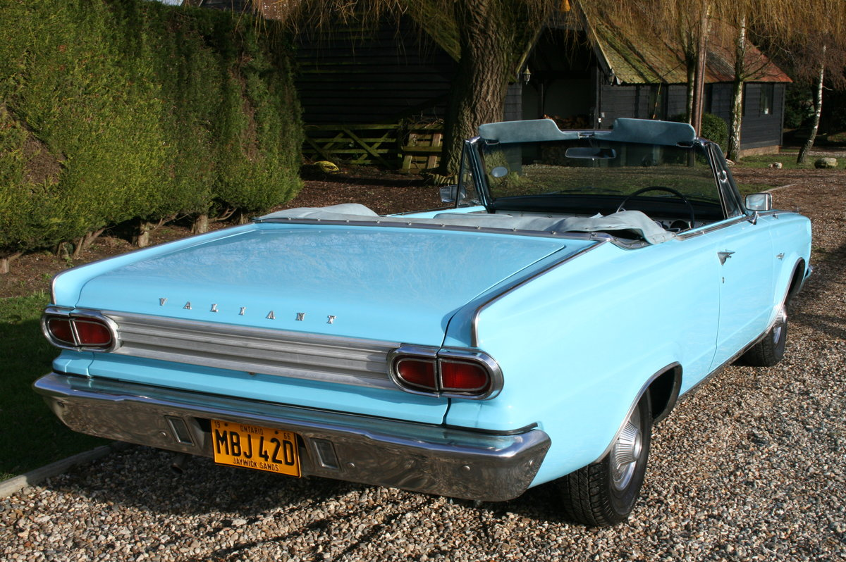 1966 Plymouth Chrysler Valiant Signet Convertible RHD UK Car. For Sale (picture 3 of 20)