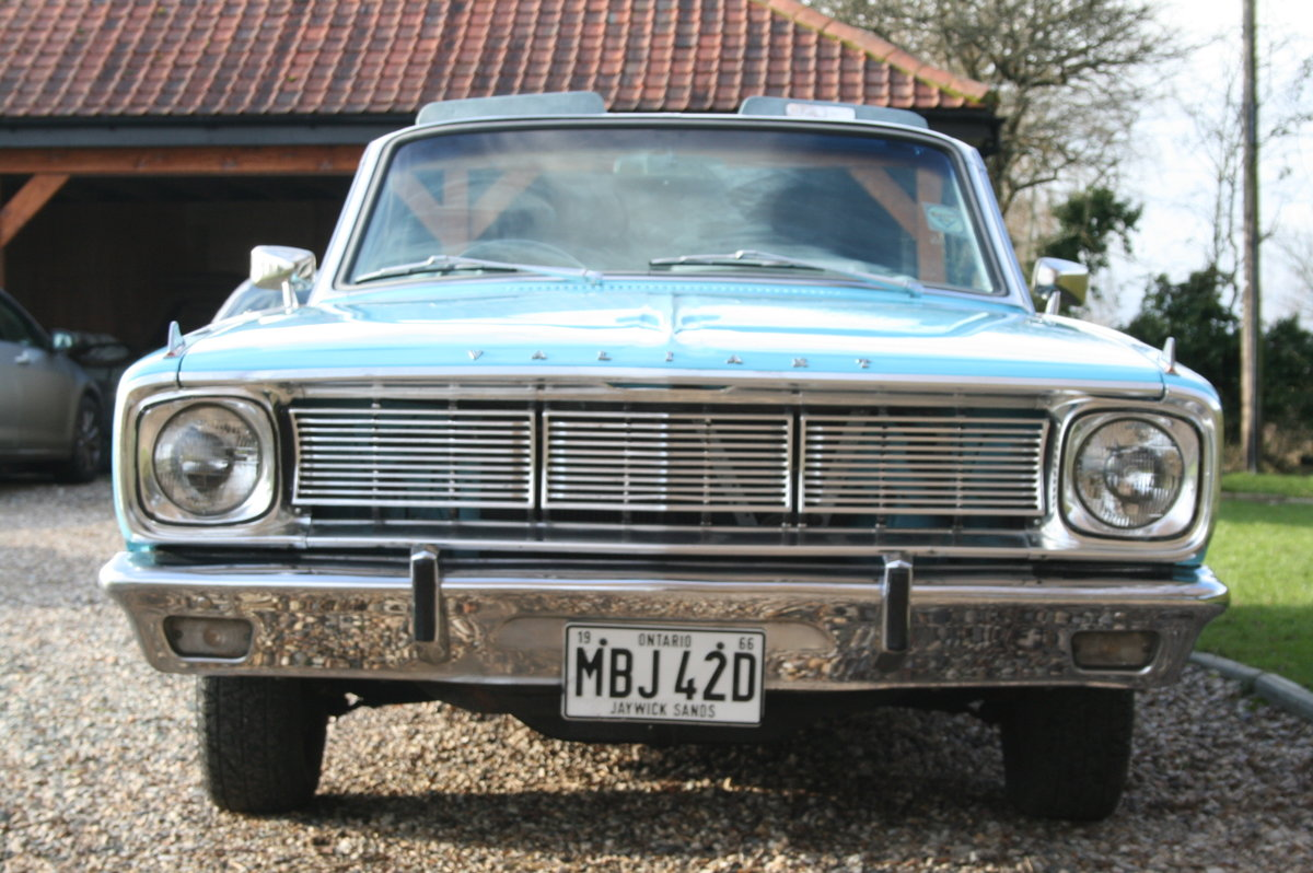 1966 Plymouth Chrysler Valiant Signet Convertible RHD UK Car. For Sale (picture 9 of 20)