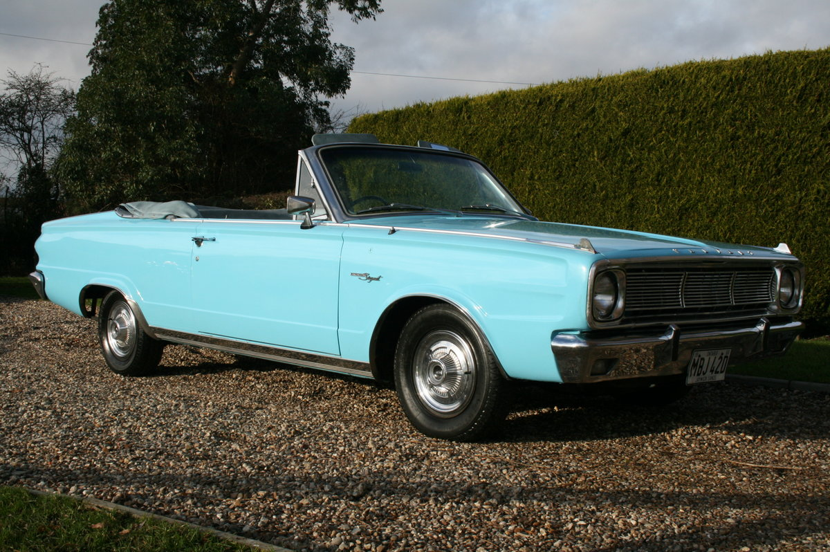 1966 Plymouth Chrysler Valiant Signet Convertible RHD UK Car. For Sale (picture 14 of 20)