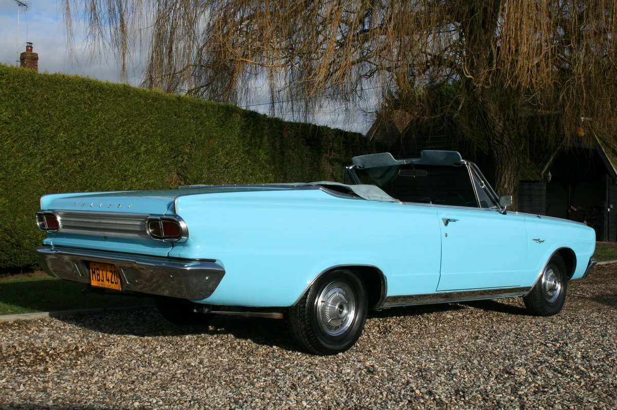 1966 Plymouth Chrysler Valiant Signet Convertible RHD UK Car. For Sale (picture 17 of 20)