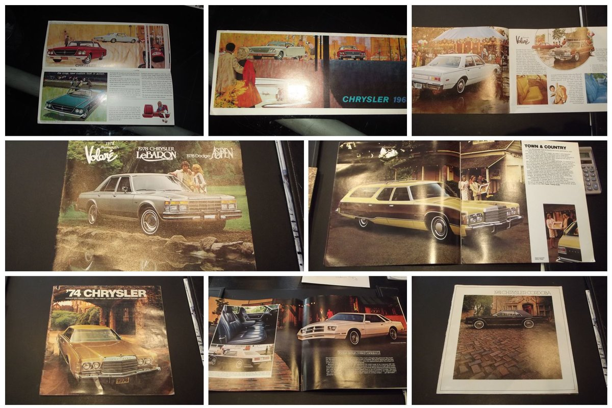 0000 CHRYSLER MEMORABILIA SALES BROCHURE, MAGS all original For Sale (picture 3 of 12)