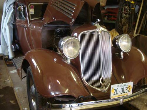 1934 Chrysler CA 4DR Sedan For Sale (picture 2 of 6)