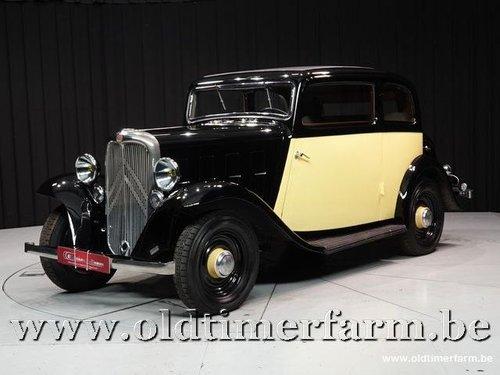 1934 Citroën Rosalie Coach 8A Manessius '34 For Sale (picture 1 of 6)