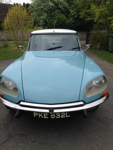 DS 20 Confort 1973 - L/H Drive, Blue, 72k miles  SOLD (picture 1 of 6)