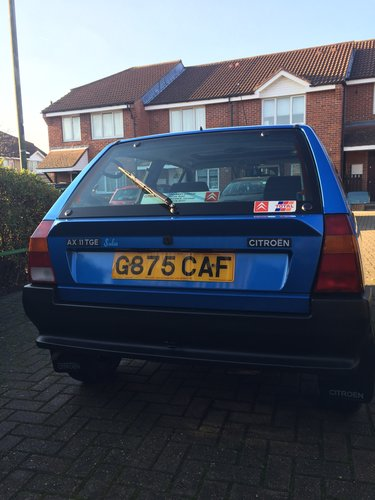 1990 Citroen AX Salsa - one of only two left in the UK For Sale (picture 5 of 6)