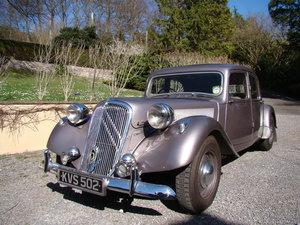 Rare 1952 Citroen Traction Avant 'Big Six'
