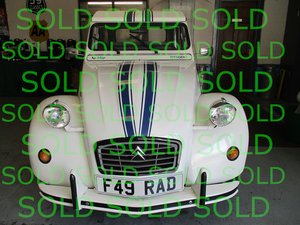 1988 Citroen 2CV Beachcomber Livery For Sale
