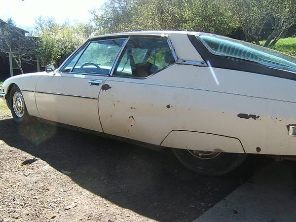 1972 Citroen SM = Rare 1 of 100 Sunroof Project Ivory $6.7k For Sale (picture 3 of 6)
