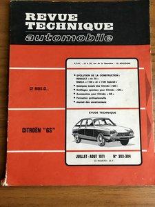Citroen GS French Workshop Manual Revue Technique