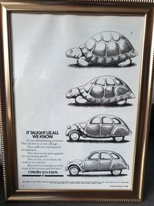 1984 Citroen 2CV advert Original