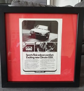 1975 Citroen GSX A5 advert Original