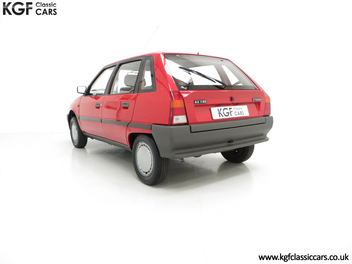 1989 A Super Rare Phase 1 Citroen AX 11RE with 39,280 Miles For Sale (picture 4 of 6)