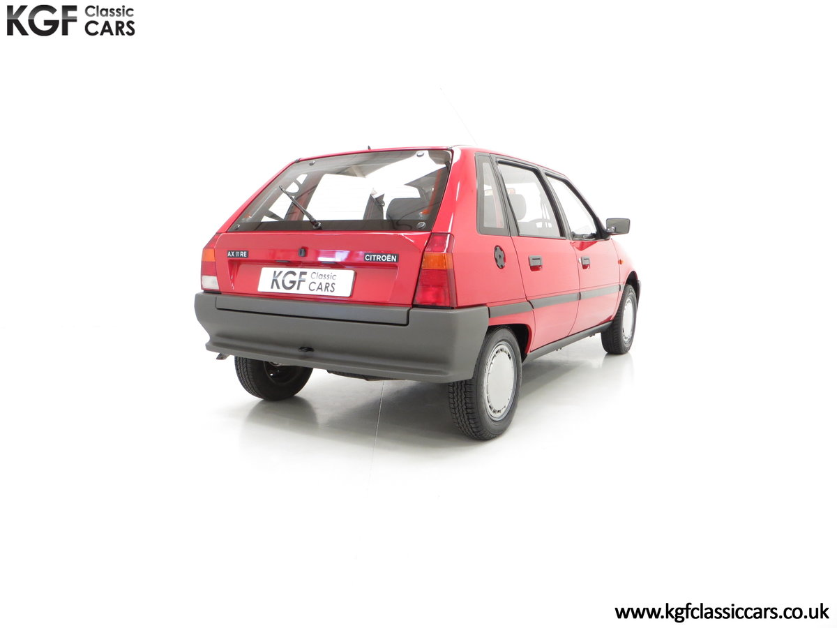 1989 A Super Rare Phase 1 Citroen AX 11RE with 39,280 Miles For Sale (picture 5 of 6)