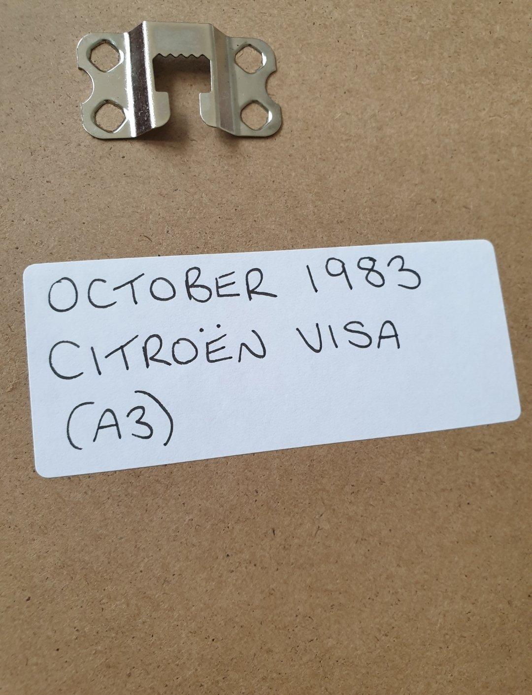 1983 Original Citroen Visa Framed Advert For Sale (picture 2 of 2)