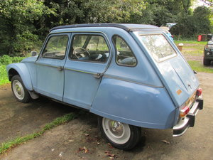 1980 citroen 2cv/dyane solid with galvanised chassis