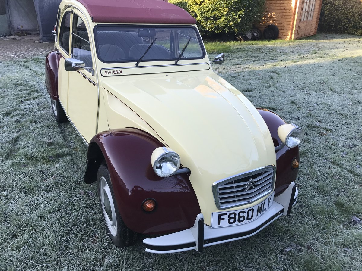 1986 Citroen 2CV plums and custard Galvanised chassis  For Sale (picture 1 of 6)
