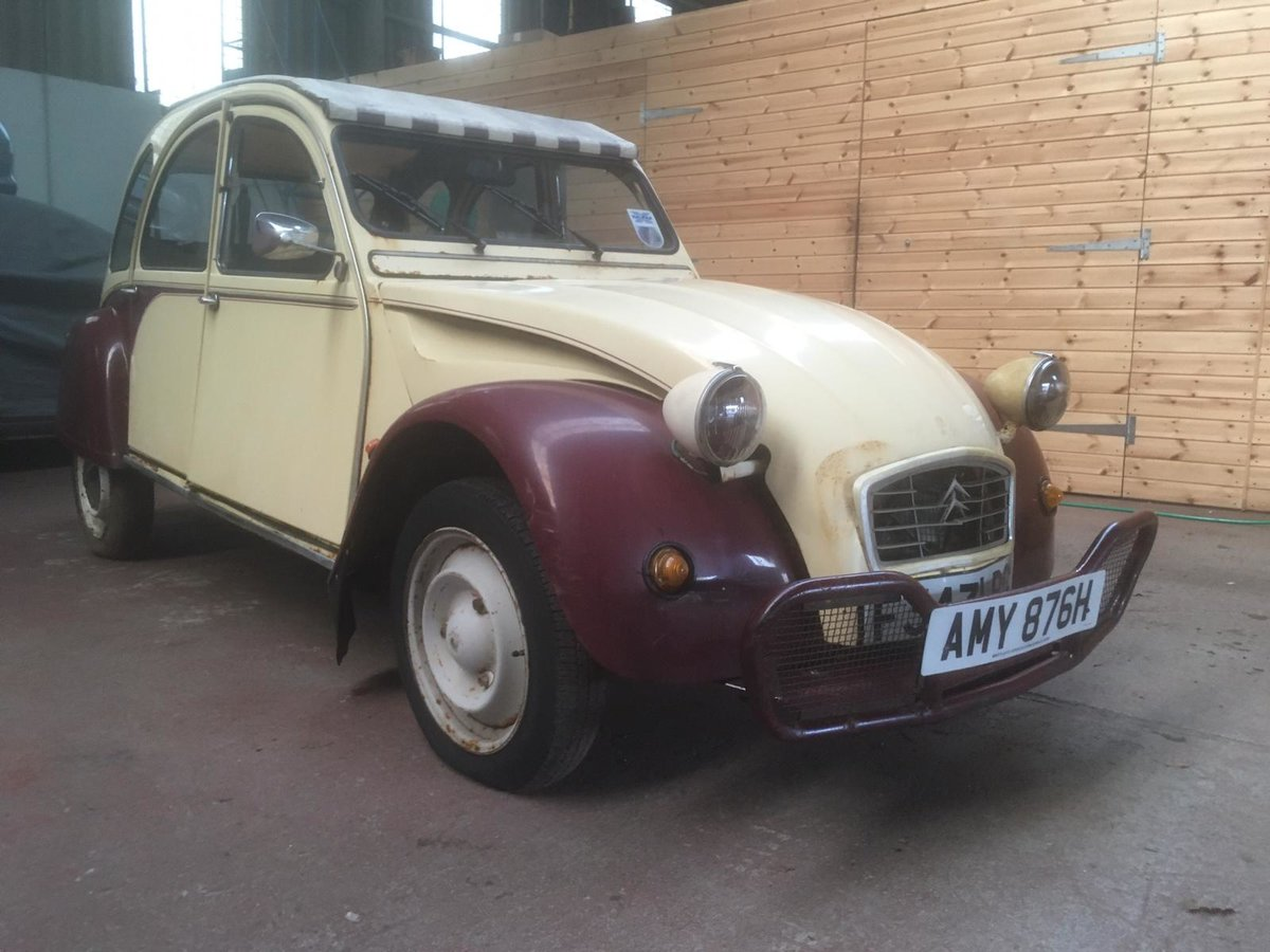 1988 Citroen 2cv Dolly plumb & custard, For Sale (picture 1 of 1)
