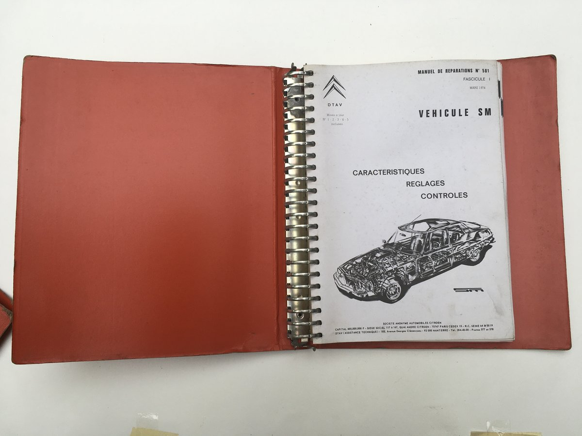 Citroen SM repair manuals For Sale by Auction (picture 2 of 5)